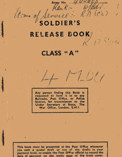 Army release book RS